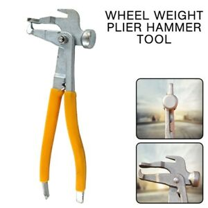 1pc Heavy Duty Wheel Weight Plier Hammer Tool Tire Changer Repair Shop Diy New