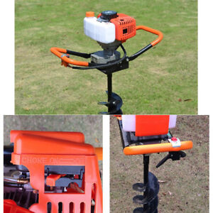 52cc Gas Powered Post Hole Digger Auger 4 6 8 Bits extension Bar 12 Air cooled