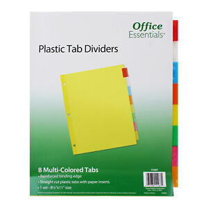 Avery Office Essentials Plastic Insertable Dividers 8 tab Letter