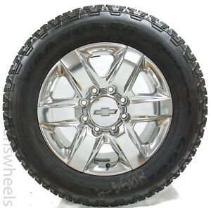 New Chevy Silverado Gmc Sierra 2500 3500 Hd 8 Lug 20 Polished Wheels Rims Tires