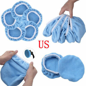 5pcs 5 6inch Microfiber Car Polisher Pads Waxing Polishing Bonnet Buffing Covers