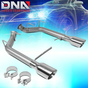 For 2011 2014 Ford Mustang 5 0 5 4 Axle Cat Back System W dual 4 od Exhaust Tip