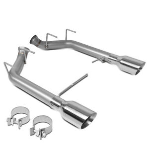 Racing Axle Cat Back Exhaust W 4 od Tip For 2011 2014 Ford Mustang 5 0l 5 4l