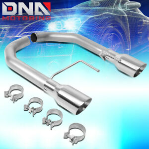 For 2015 2017 Ford Mustang 2 3l Ecoboost Axle Cat Back W dual 4 od Exhaust Tip