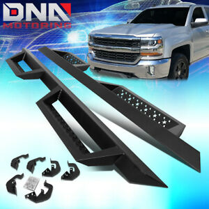 For 2007 2019 Sierra Silverado Extended Cab 4 5 Running Board Side Step Nerf Bar