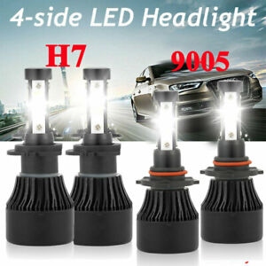 4 Sides H7 9005 Led Headlight For Mazda 3 2007 2009 Mazda 6 2011 13 Hi Lo Beam