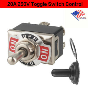 Heavy Duty 20a Toggle Switch Control Dpdt 2 Pole Double Throw 6 Term On off Us