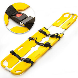 Emt Scoop Stretcher Aluminum Medical Stretcher Heavy Duty Emergency Safety Belt