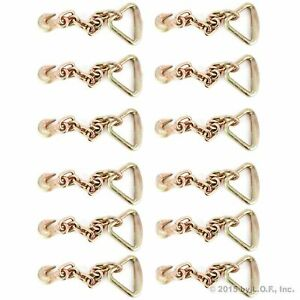 12 Grab Hook 3 8 W 18 Chain Anchor 4 Delta Ring Hauling Tiedown Tow Wrecker