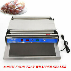 450mm Food Tray Film Wrapper Sealer Shrink Cutting Sealing Automatic Machine
