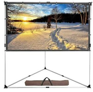 Portable 100 Projection Projector Screen 16 9 Triangle Stand With Carry Bag