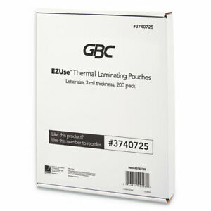 Ezuse Thermal Laminating Pouches 3 Mil 8 5 X 11 Gloss Clear 200 pack