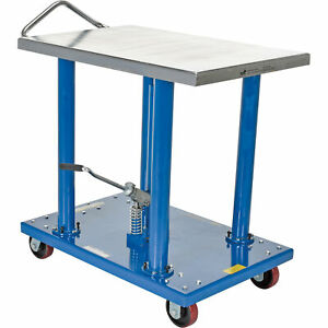 Vestil Manual Hydraulic Post Table 2000 lb Cap ht 20 2436a