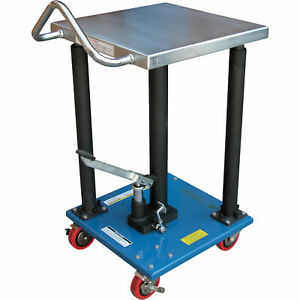 Vestil Manual Hydraulic Post Table 500 lb Cap ht 05 1818a