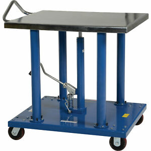 Vestil Manual Hydraulic Post Table 2000 lb Cap ht 20 3036a
