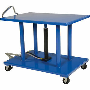 Vestil Manual Hydraulic Post Table 2000 lb Cap ht 20 3248