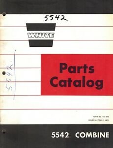 White 5542 Tractor Combine Parts Manual new