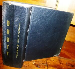 Drott Used Original 3 Post Heavy Duty Manual Binder