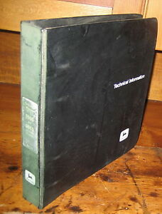 John Deere 9900 9910 Cotton Picker Technical Repair Manual W binder Jd
