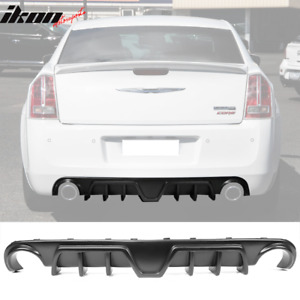 Fits 12 14 Chrysler 300 Srt Shark Fin Rear Diffuser Bumper Lip Lower Valance Pp