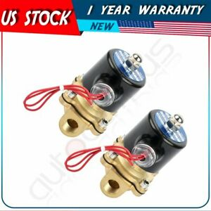 2 Air Ride Suspension Valve 3 8 npt Brass Electric Solenoid For Train Horn Fast