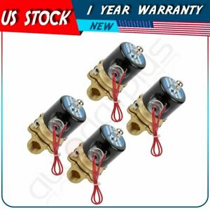 4 Air Ride Suspension Valve 1 2 npt Brass Electric Solenoid For Train Horn Fast