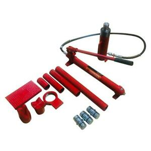 20 Ton Hydraulic Jack Autobody Frame Porta Power Repair Ram Lift Tool Kit