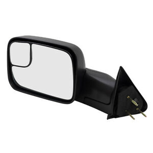 Towing Mirror For 94 02 Dodge Ram Truck Drivers Manual W Bracket 55156335ad