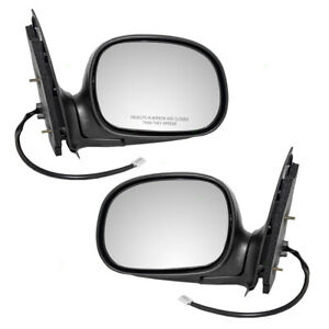 Pair Set Power Side View Mirrors Chrome Cover For 97 03 Ford F 150 Pickup Truck