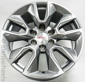 New 2019 Gmc Sierra Denali Yukon Gunmetal Machined 20wheels Rims Lugs 5916