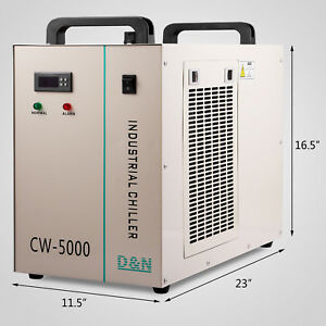 Cw 5000 Industrial Water Chiller Cooling System For Co2 Laser Engraver Machine