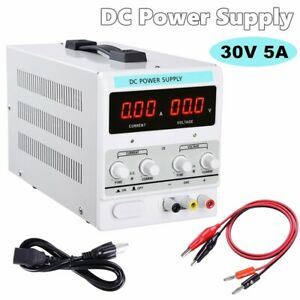 Adjustable Power Supply 30v 5a 110v Precision Variable Dc Digital Lab W clip