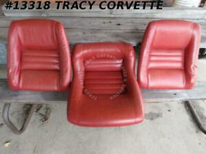 1979 1982 Corvette Red Original Seat Back And Cushion W Extra Back 2 4 Bolster