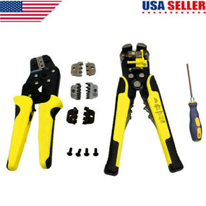 4 In1 Wire Crimpers Ratcheting Terminal Crimping Pliers Cord End Terminals Tools