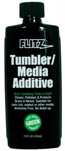 Flitz Green Tumbler Media Cleaning Additive 7.6 Oz Protects Brass TA04885 $18.01
