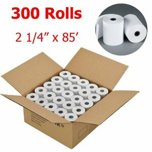 Us 300 Rolls 2 1 4 X 85 Thermal Cash Register Credit Card Pos Receipt Paper