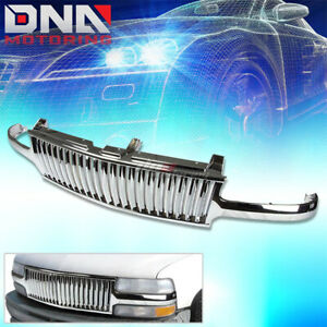 00 06 Chevy Tahoe silverado Chrome Sport Front Upper Bumper hood Abs Grill Guard