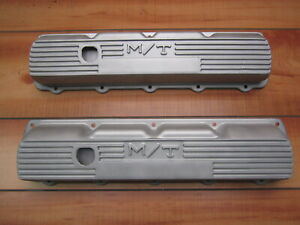 Oldsmoble M T Finned Aluminum Valve Covers 330 350 425 Mickey Thompson 442 Olds