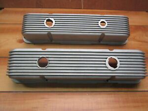 Cal custom 40 2300 Sb Chevy 283 302 327 350 Aluminum Finned Valve Covers Vintage