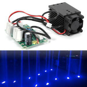 Focusable 445nm 2000mw 2w Blue Laser Module Ttl Driver Board Cutter Engraving