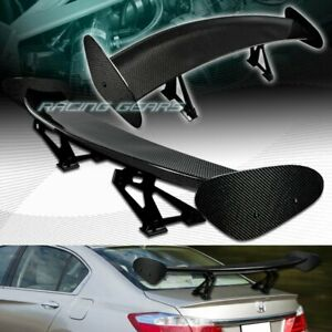Universal 51 Dragon 4 Style Real Full Carbon Fiber Rear Trunk Gt Spoiler Wing