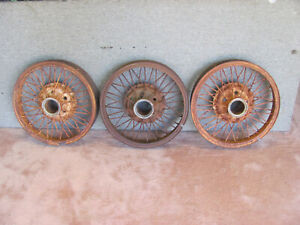 Vintage Wire Spoke Wheels 20 Late 1920 S Plymouth Others Lot 105