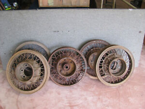 Vintage Wire Spoke Wheels 19 Early 1930 S Stutz Other Large Cars Lot 102