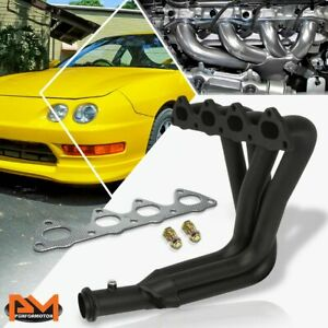For 94 01 Acura Integra Gsr Type R B Series Performance 4 1 Exhaust Header Black