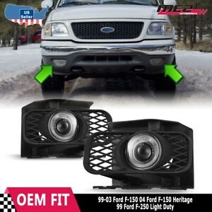 For Ford F 150 99 04 Factory Replacement Halo Projector Fog Lights Clear Lens