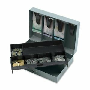 Sparco Steel Combination Lock Cash Box 6 Coin Steel Gray 3 2 Height X