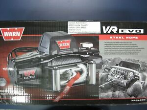 Warn 103254 Vr Evo 12 12000lb Winch 12v Roller Fairlead 85 3 8 Steel Cable Rope