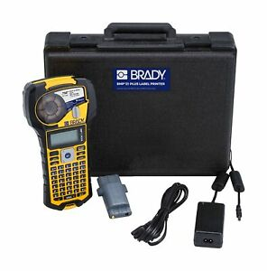 Brady Bmp21 Portable Printer Kit Molded Rubber Impact Bumpers Hard Carrying Case