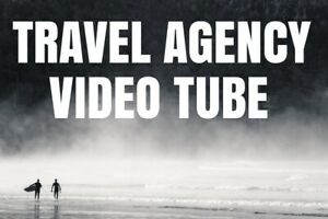 Travel Agency Video Hub blog bookings Website word Press For Sale