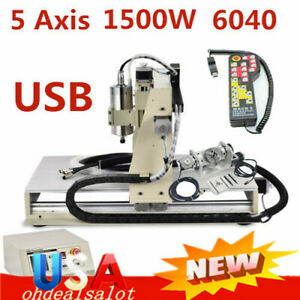 Cnc Router Engraver 5 Axis 6040 W usb Wood Metal Drill Mill Carving controller